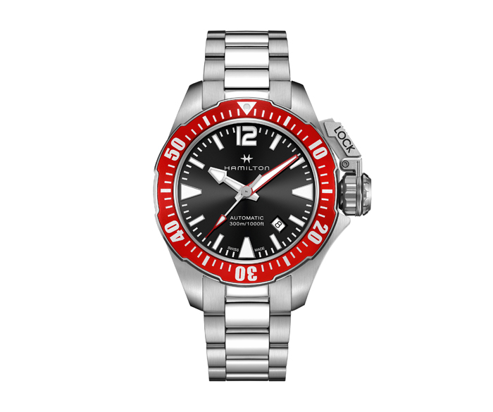 Khaki Navy Frogman Red Automatic 80H