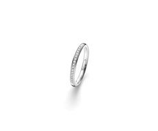 Memoire Ring mit elf Brillanten 0,055ct