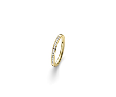 Memoire Ring mit elf Brillanten 0,11ct