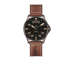 Khaki Aviation Day Date Automatic BLACK 80H