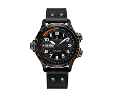 Khaki Aviation X-Wind Day Date Automatic Black 80H